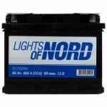 Аккумулятор автомобильный  (60 А/ч) Lights of Nord 6CT-60N