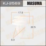 Клипса автомобильная (автокрепеж), уп. 50 шт. Masuma KJ-2569