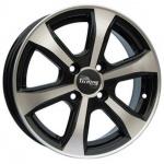 Диск колесный Tech-Line 408 5.5xR14 4x100 ET45 ЦО56.1 чёрный с полированной лицевой частью rd830461
