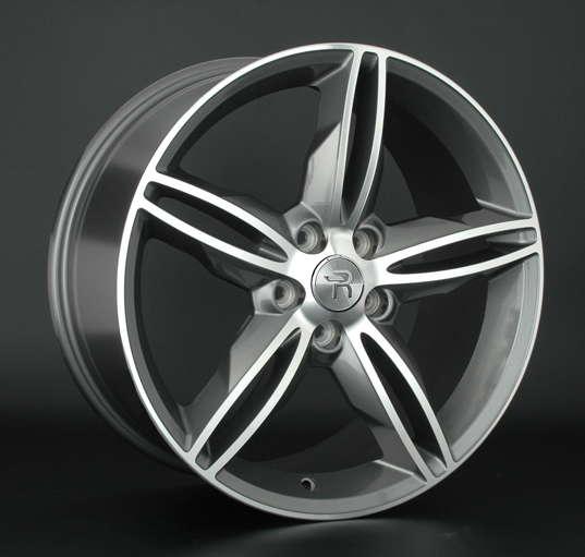 Диск колесный Replay FD94 8xR18 5x108 ET55 ЦО63,3 серый глянцевый с полированной лицевой частью 028446-070132003