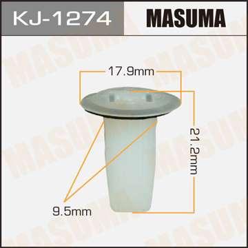 Клипса автомобильная (автокрепеж), уп. 50 шт. Masuma KJ-1274