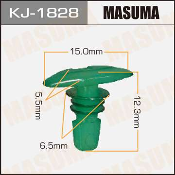 Клипса автомобильная (автокрепеж), уп. 50 шт. Masuma KJ-1828