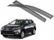 Дефлекторы боковых окон с хромированным молдингом, OEM Style OEM-Tuning 22013 для Toyota RAV4 2015-