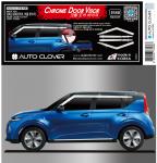 Дефлекторы окон хромированные AUTOCLOVER для Kia Soul ( Киа Соул ) 2019, 2020