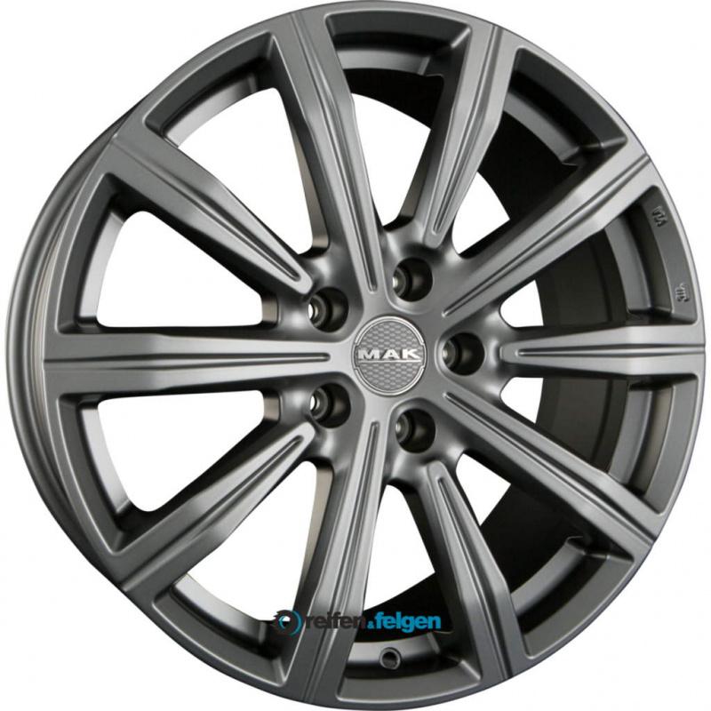 Диск колесный MAK Birmingham 8,5xR19 5x120 ET35 ЦО64,1 серый темный матовый F8590IRMT35IR