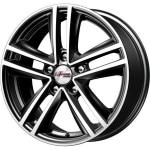 Диск колесный iFree Катар 6.5xR16 5x114.3 ET45 ЦО67.1 черный глянцевый с полированной лицевой частью 436805