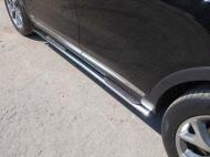 Пороги овальные с накладкой TCC KIASOR15-08 Kia Sorento Prime 2018
