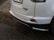 Накладки на задний бампер (лист шлифованный) ТСС TOYRAV15-07 для Toyota RAV4 2015-