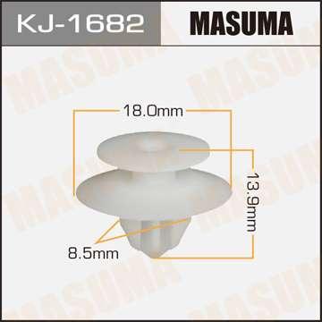 Клипса автомобильная (автокрепеж), уп. 50 шт. Masuma KJ-1682