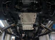 Защита КПП и РК из 2-х частей, алюминий (V - все; КПП - все) АВС-Дизайн 14.22ABC Mitsubishi L200 (5G) 2015-