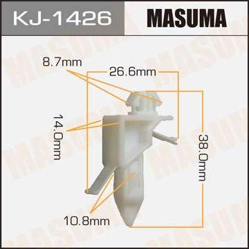 Клипса автомобильная (автокрепеж), 1 шт., Masuma KJ-1426