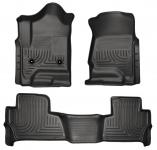 Коврики салона 1 и 2 ряд (черные,серые,бежевые)99201 для Chevrolet Tahoe IV 2015-
