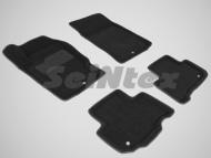 Коврики салона текстильные 3D, черные Seintex 86308 Ssangyong Rexton 2013 - 2015