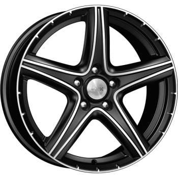 Диск колесный КиК Барракуда 7,5xR17 5x114,3 ET38 ЦО71,6 черный глянцевый с полированной лицевой частью 12865