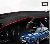 Антискользящий коврик на торпеду Z3 (канта черный, красный) Z3 для Санта Фе 4 (Hyundai Santa Fe 2018 - 2019)
