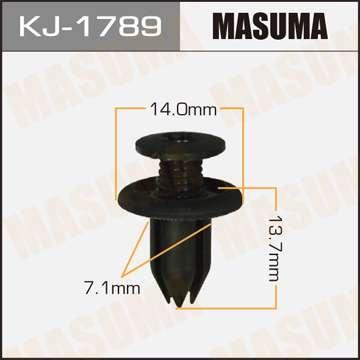 Клипса автомобильная (автокрепеж), 1 шт. Masuma KJ-1789