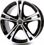 Диск колесный Borbet XL 7,5xR17 5x112 ET35 ЦО72,5 чёрный глянцевый с полированной лицевой частью 8136901