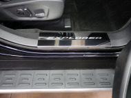 Накладки на дверные пороги (лист зеркальный надпись Explorer) 2 шт. Компания ТСС FOREXPL16-24 Ford Explorer 2016 - 2018