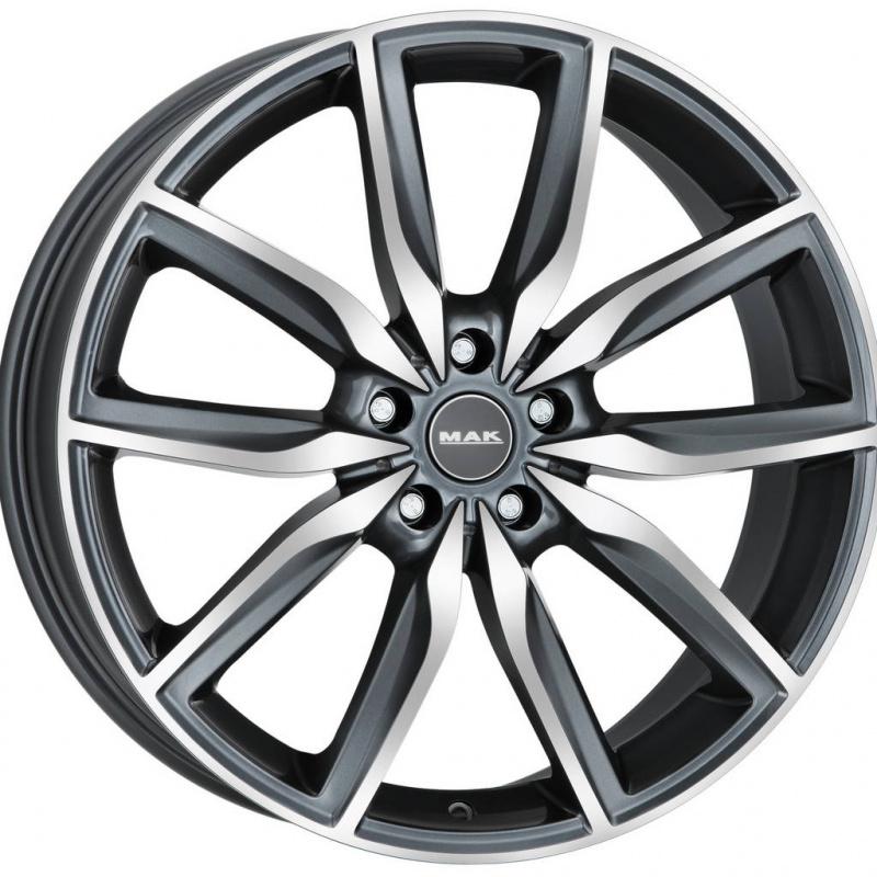 Диск колесный MAK Allianz 8xR19 5x112 ET27 ЦО66,6 серый с полированной лицевой частью F8090AZQM27WS1X
