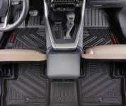 """Комплект полиуретановых ковриков в салон (надпись """"RAV4"""") для Toyota RAV4 (Тойота РАВ4) 2019 -"""