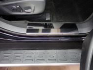 Накладки на дверные пороги (лист зеркальный) 2 шт. Компания ТСС FOREXPL16-22 Ford Explorer 2016 - 2018