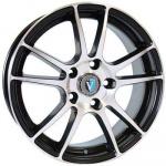 Диск колесный Venti 1 611 6,5xR16 4x98 ET38 ЦО58,6 черный с полированной лицевой частью rd833401