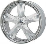Диск колесный Antera 345 9,5xR20 5x120 ET55 ЦО65,1 серебристый с полированным ободом 345 950 D09