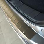 """Накладка на задний бампер с загибом (нержавеющая сталь, матовая) """"Original"""" Alu-Frost 50-5579 для Renault Koleos 2017 -"""