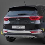 Молдинг заднего бампера K-540 (ХРОМ) - KIA The SUV Sportage (KYOUNG DONG) для KIA Sportage IV 2016 -