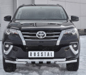 Передняя защита бампера Russtal TFZ-002879 для Toyota Fortuner 2017-