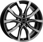Диск колесный MAK Highlands 9,5xR20 5x120 ET40 ЦО72,6 серый с полированной лицевой частью F9520HIQM40IR2