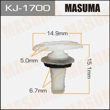 Клипса автомобильная (автокрепеж), уп. 50 шт. Masuma KJ-1700