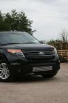 Решетка в бампер 16 мм (1 элемент из 5 трубочек) - черные заглушки Souz-96 FEXP.96.2101 Ford Explorer 2010-