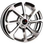 Диск колесный X'trike X-128 6,5xR16 5x108 ET43 ЦО67.1 насыщенный серебристый 15006ZX