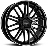 Диск колесный Rial KiboX 9xR20 5x108 ET33 ЦО63,4 черный глянцевый с полированным ободом KIBX-902033F53-2