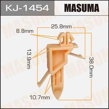 Клипса автомобильная (автокрепеж), уп. 50 шт. Masuma KJ-1454