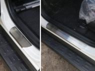 Накладки на пороги (лист шлифованный) ТСС TOYRAV15-03 для Toyota RAV4 2015-