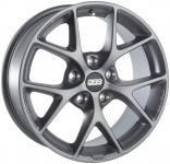 Диск колесный BBS SR031 7xR16 5x100 ET36 ЦО70 серый матовый 0569018#