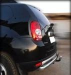 Защита заднего бампера трубообразная d-60 (без фаркопа) (только для 4WD) Технотек RD 3.1 для Renault Duster 2011-