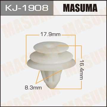 Клипса автомобильная (автокрепеж), уп. 50 шт. Masuma KJ-1908