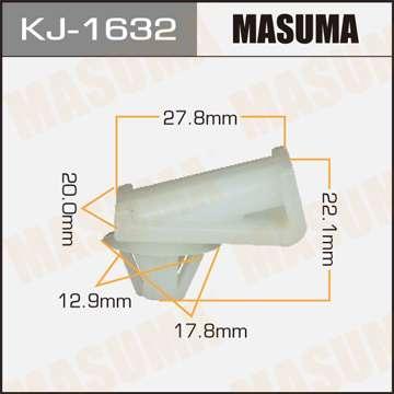 Клипса автомобильная (автокрепеж), уп. 50 шт. Masuma KJ-1632