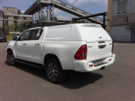 Кунг для кузова, цвет - белый (двойная кабина, 1 дверь) АВС-Дизайн ABC.TOHIL.BR.04W Toyota Hilux 2015-
