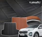 3D обшивка в багажник Kamaru KIA Sportage 2018-2019