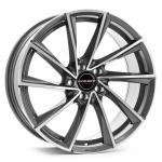 Диск колесный Borbet VTX 8,5xR19 5x112 ET20 ЦО66,5 серый тёмный с полированной лицевой частью 496261