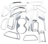Накладки на элементы в салоне (21 шт.) Autoclover для Санта Фе 4 (Hyundai Santa Fe 2018 - 2019)