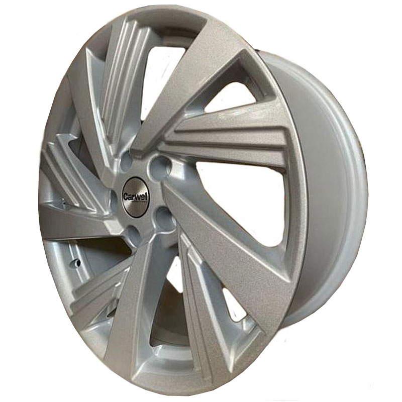 Диск колесный Carwel Тишь 1801 7,5xR18 5x114,3 ET51 ЦО67,1 серебристый 31300