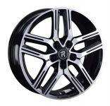 Диск колесный Replay GL12 7xR17  5x114,3 ET45 ЦО60,1 чёрный глянцевый с полированной лицевой частью 081558-160152004