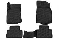 Коврики 3D в салон (черный полиуретан) Format FORMAT.CARNIS00061 Nissan Qashqai 2015-