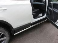 Пороги труба 60,3 мм ТСС TOYRAV15-18 для Toyota RAV4 2015-
