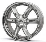 Диск колесный Antera 389 9,5xR20 5x114,3 ET40 ЦО75 серебристый с вставками карбон и полированным обод 389 950 G04